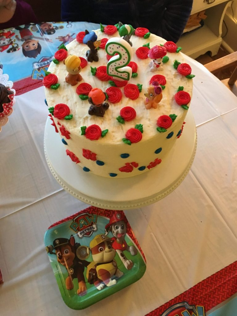 little girls paw patrol cake